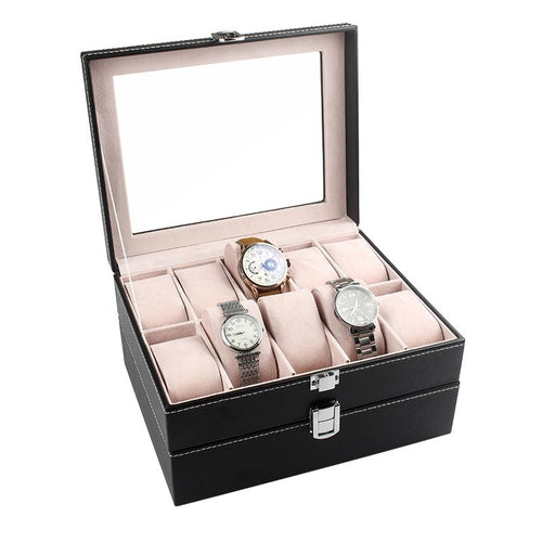 Storage box 20 watch boxPU display box jewelry case jewelry accessories organizer boxs D