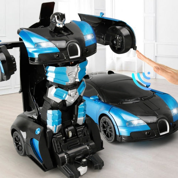 1:14 Large 2.4G Induction Deformation RC Cars Transformation Robot Car Toy Light Electric Robot Models Toys for Children Gifts