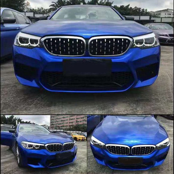 1 Pair Abs Front Kidney Grille for Bmw 4 Series F32 F33 F36 F82 F83 M4 F80 M3 420D 430I 430D 440I 435I 428D Diamond Grille Meteo