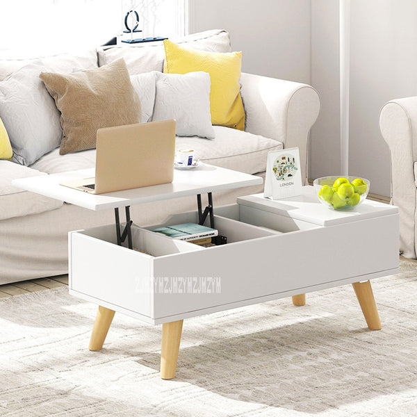 11012 Multi-Functional Lifting Storage Tea Table Household Living Room Coffee Table Sitting Room Creative End Table Cabinet Desk