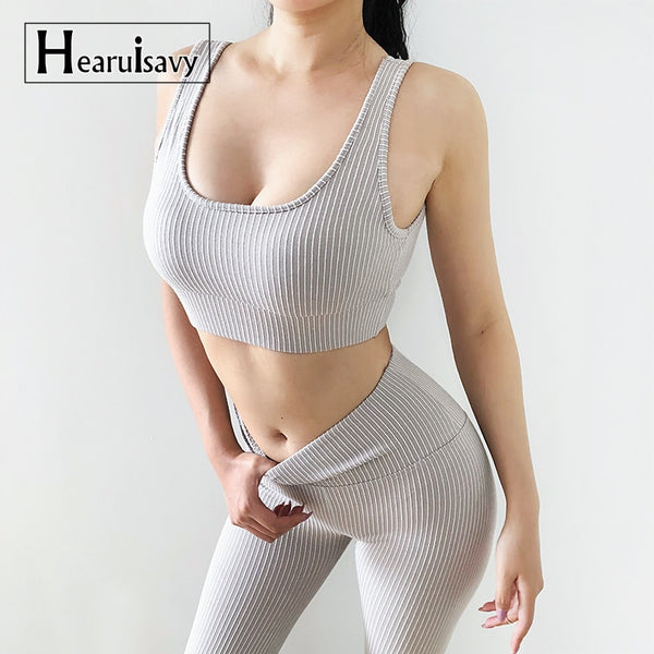 FREE Shipping 2 piece seamless yoga set for women fitness gym clothing workout sport set seamless leggings set active wear gym suit