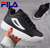 2019 FILA Shoes Unisex MEN'S & WOWEN'S rose gold color Running Shoes Non Slip Outdoor Running Shoes size 36-44
