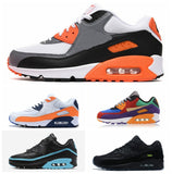 2020 New Men Shoes classic 90 Men women Running Shoes Black Red White Sports Trainer Air Cushion Surface Breathable Sports