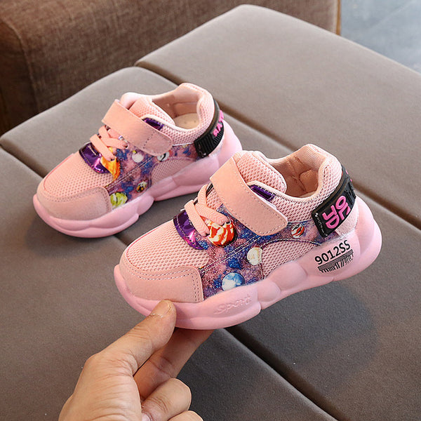 2020 Spring and Autumn Children's Mesh Breathable Sneakers Primary School Non-slip Casual Running Shoes Baby Toddler Shoes