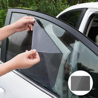 2pcs 42x38cm DIY Car Sun Shades Film Sun Protection Window Cover Black PVC Sunshade Side Window Shield with Small Holes