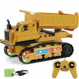 4CH Simulation RC Truck Excavator Toys With Music And Light Children's Boys Gift Engineering remote control Car Tractor Toy
