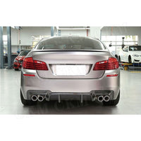 5 Series Carbon Fiber Rear Bumper Extension Fit For BMW F10 M5 Sedan 2012 - 2017 3D Style FRP Rear Lip Diffuser