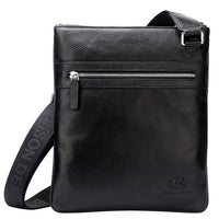 BISON DENIM fashion luxury men bag genuine leather one shoulder crossbody bags business male brand small messenger bag
