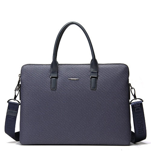 BISON DENIM fashion luxury men bag split leather business men briefcase laptop bag brand male handbag shoulder bags