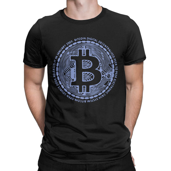 Bitcoin Billionaires Crypto Currency Men T Shirts Amazing Tees Short Sleeve Crew Neck T-Shirts 100% Cotton Printed Clothing