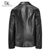 Brand Men's Leather Jacket  Soft sheep Skin Coat Black Male Genuine Leather clothing Autumn Plus Size5XL Slim coats black71J7867