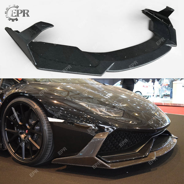 Carbon Fiber Front Lip For Lamborghini Huracan LP610 (2014+) DM Style Front Lip with Canard Body Kits Tuning Trim Huracan LP610
