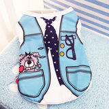 Cartoon Print Dog Shirt Cheap Dog Clothes For Small Dogs Summer Chihuahua Tshirt Cute Puppy Vest Yorkshire Terrier Pet Clothes