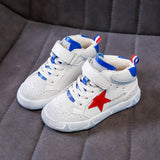 Children's Shoes 2019 New Autumn Winter Boy Shoes Korean Version of The Big Child Stars Casual Girls Small White Shoes