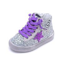 Children's Shoes 2020 Spring New Shiny Casual Sports Shoes Comfortable Soft Bottom Children's Shoes Fashion Mesh Shoes