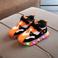 Children's Shoes Autumn and Winter Children Breathable Light Sports Shoes Men Women Casual Plus Velvet Shoes Baby Toddler Shoes
