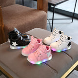 Children's Sports Shoes 2019  Fashion Cartoon Luminous Children's Shoes LED Fashion Boys Girls Fashion Casual Shoes