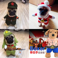 Cosplay Standing Dog Clothes For Small Dogs Winter French Bulldog Jacket Cartoon Dog Halloween Costume Chihuahua Pet Clothes