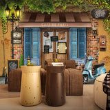 Custom Any Size Mural Wallpaper 3D Retro Paris Cafe Background Wall Painting Restaurant Living Room Background Wall Decor Fresco