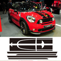 Decal Sticker Stripe Kit For Mini Countryman Cooper S Racing Hood Side Trunk JCW Vinyl Stickers- White/Black/Red/Gold to choose