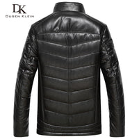 Dusen Klein 2017 New Luxury leather Down coats men Genuine Leather High quality mens sheepskin Winter coat Black 61J5833