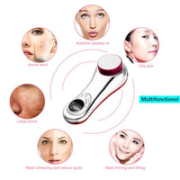 Electric Facial Cleaner Ultrasonic LCD Skin Firming Massager Cleansing Care Removing Wrinkles Acne Spot Anti age 3 in 1