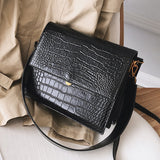 European Fashion Simple Women's Designer Handbag  New Quality PU Leather Women Tote bag Alligator Shoulder Crossbody Bags
