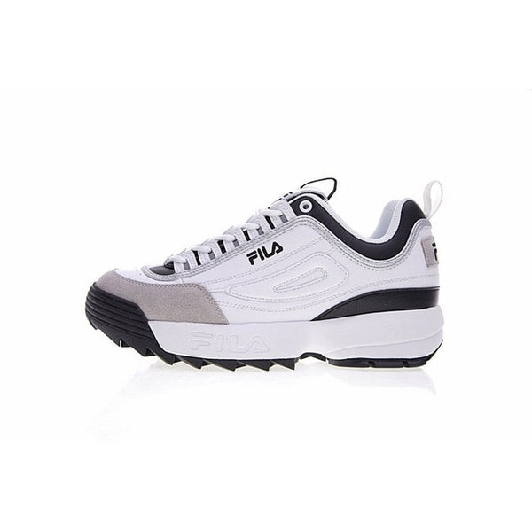 FILA Disruptor 2 Sneakers Men Cushioning Running Shoes Breathable Wave Fila Women Sports Shoes size 36 44