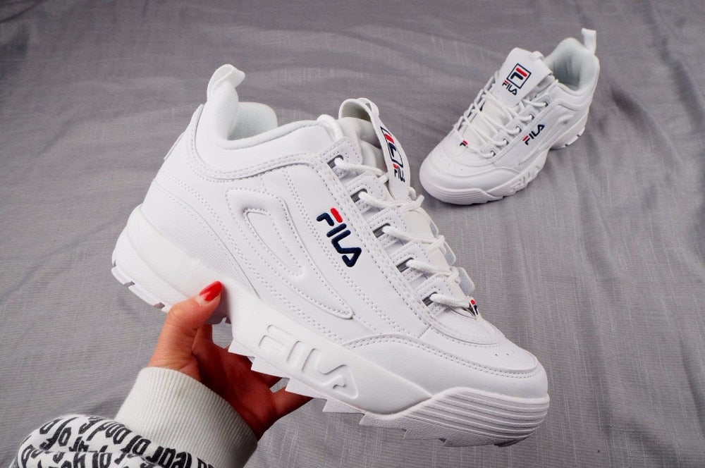 FILA Disruptor II 2 generation of large sawtooth bottom, increased leg repair, jogging shoes, peppermint green size 36 42