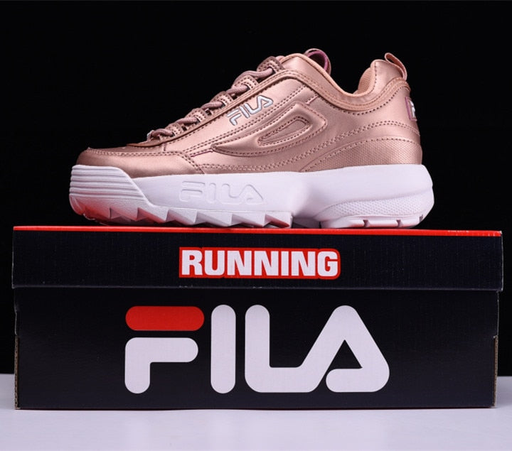 FILA Disruptor II 2 generations large serrated thick raised shoes Women Running Shoes 8 colors size 36 41