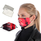 Fashion Printing Reusable Protective PM2.5 Filter mouth Mask anti dust Face mask Windproof Mouth-muffle bacteria proof Flu Mask