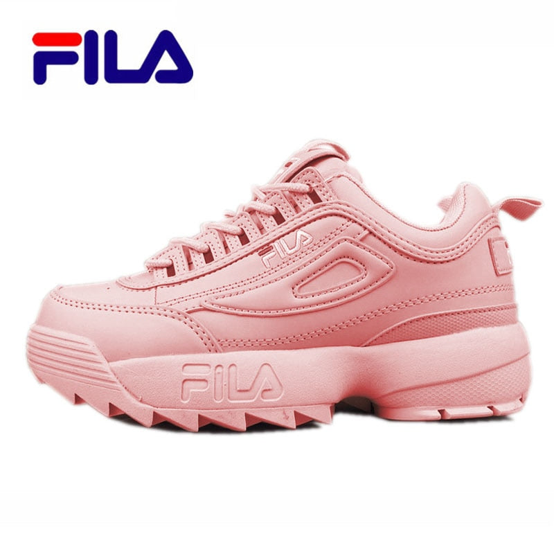 Fila Disruptor II 2 Sneaker Running Shoes black white Big sawtooth Thick bottom increased Man Low Outdoor Sneakers 39 44