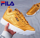 Fila Disruptor II 2 Women Sneaker Running Shoes White-brown and white summer Increased Outdoor Sneaker size 36-44