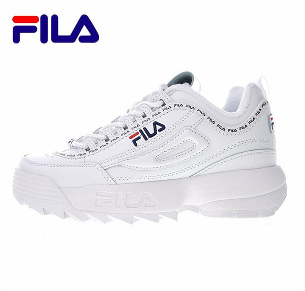 "Fila Women Shoes Fila Disruptor II  The 2 generation of large sawtooth bottom ""naked pink collusion"" FW0165-124"