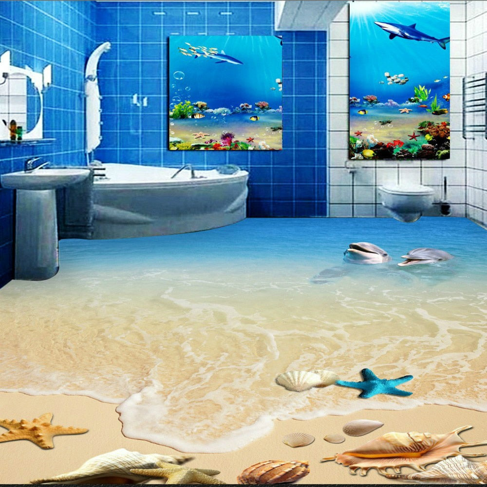 12 Pink Dolphins Shower Screen Bathroom Vinyl Stickers decal 5 12cm