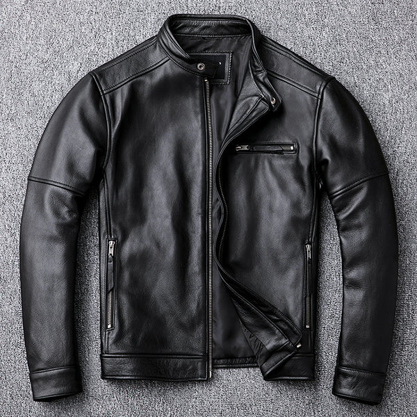 Free shipping.classic casual style,Plus size cowhide Jackets,men slim 100% genuine Leather jacket.super sales leather coat,sales