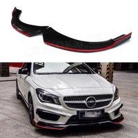 Front Lip Splitters Fender Aprons For Benz CLA Class W117 C117 CLA250 CLA260 CLA45 2014-2016 Carbon Fiber Flap Cupwings