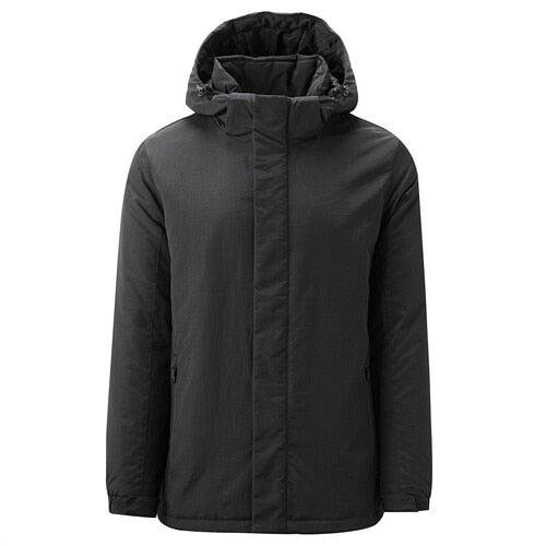 Giordano Men Coats Detachable Hood Stand Collar Casaco Waterproof Durable Velcro Cuffs Warm Manteau Homme 01079650