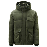 Giordano Men Coats Hooded Long-sleeve Cargo Quilted Coat Wrinkle Resistance Muti-pockets Velro Cuffs Manteau Homme 01079744