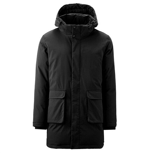 Giordano Men Coats Solid Stand Collar Detachable Mid-long Hooded Coat Windproof Milti-Pockets Casaco Masculino 01079675