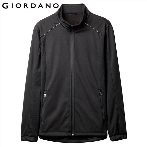 Giordano Men Jacket Men Contrast Color Stand Collar Polar Fleeced Lining Jacket Men Warm Manstyle Jaqueta Masculina