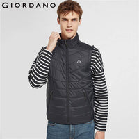 Giordano Men Jacket Men Printed Reflective Patten 3-in-1 Hood Drawstring Winter Coat Men Water-resistant Detachable Jaqueta