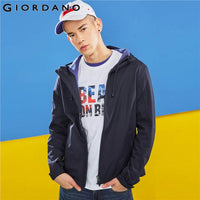 Giordano Men Jacket Windproof Polar Fleece Hooded Jacket Warm Pocket Casual Slim Jacket Male Quality Solid  Giacca
