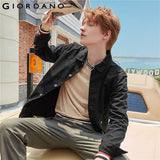Giordano Men Jackets Flap Pockets Long-sleeve Cargo Jacket Cotton Chest Metal Buttons Double Pockets Jaqueta Masculino 13079802