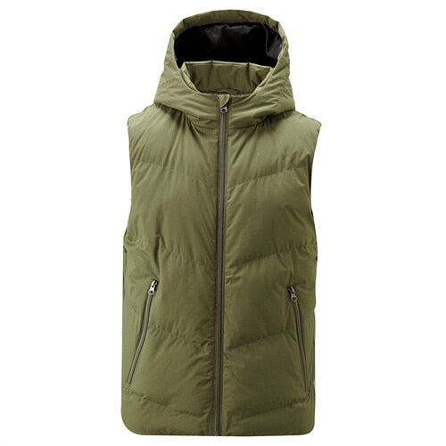 Giordano Men Vest Hooded Sleeveless Quilted Chaleco Windproff Slant Pockets With Zip Colete Masculino 13079806