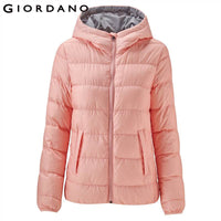 Giordano Women Down Jacket Women Hooded Lightweight Down Jacket 90% White Duck Down Jacket Coat Women Winter Jacket Packable