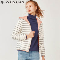 Giordano Women Reversible hooded down jacket