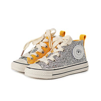 High Quality Kids Shoes Canvas Baby Sneakers Glitter Girls Shoes Patchwork High Toe Canvas Sneakers Boys Shoes With Sequins 2019