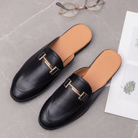 Ifrich Hot Sale Men Young Casual Shoe Summer Half Drag Fashion Shoes Man Original Designer Men Sneakers Non-Slip Pu Leather Shoe