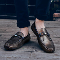 Free Return Return for any reason within 15 days,  Italian style Men Shoes outdoor Casual Brands Slip On Formal Luxury Shoes Men Loafers Moccasins Genuine Leather Shoes men l5